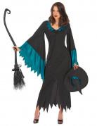 Disfraz de bruja para mujer azul-largo