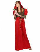 Disfraz de princesa medieval rojo para mujer