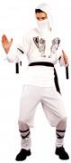 Disfraz blanco de ninja para hombre