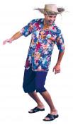 Disfraz de turista hawaiano para hombre