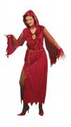 Disfraz rojo de reina de las tinieblas ideal para Halloween