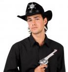 Sombrero negro de sheriff para adulto.
