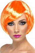 Peluca corta con glamour naranja mujer