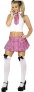 Disfraz rosa de colegiala sexy para mujer