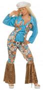 Disfraz de baba cool hippie para mujer