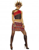 Disfraz punky para mujer