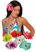 Pasador de pelo hawaiano con flor de hibisco