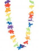 Collar hawaiano de bienvenida multicolor