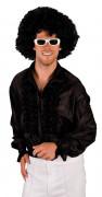 Camisa negra estilo disco para adulto