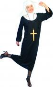 Disfraz de monja de lujo para mujer