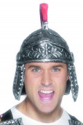 Casco romano plateado para adulto