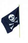 Bandera con calavera pirata