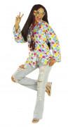 Camisa hippie colorida para adulto