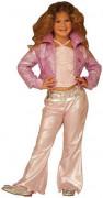 Disfraz rosa de estrella del pop para niña