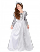 Disfraz blanco de princesa para niña