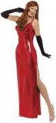 Disfraz rojo de charlestón sexy para mujer