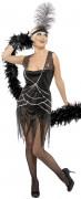 Disfraz negro de charlestón para mujer