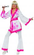 Disfraz quimono estilo disco de los años 70 para mujer
