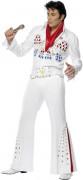 Disfraz blanco de Elvis Presley™ de lujo para hombre