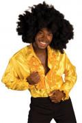 Camisa dorada estilo disco para adulto