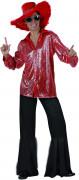 Disfraz rojo y negro estilo disco para hombre