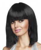 Peluca negra con glamour