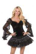 Bustier sexy de bruja para mujer, ideal para Halloween