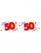 Pancarta de cumpleaños para 50 años