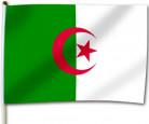 Bandera argelina para aficionado de 30 x 46 cm