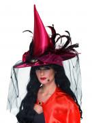 Sombrero de bruja de lujo para mujer ideal para Halloween