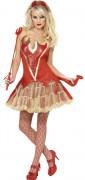 Disfraz de diablesa sexy para mujer, ideal para Halloween