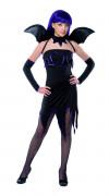 Disfraz negro de diablesa para mujer, ideal para Halloween