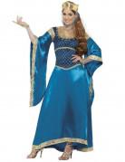 Disfraz de reina medieval Marion de lujo para mujer