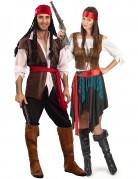 Disfraz de pareja de pirata de lujo