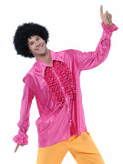 Camisa rosa estilo disco para hombre