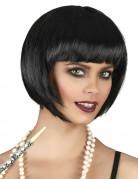 Peluca corta color negro para mujer