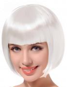 Peluca blanca corta mujer