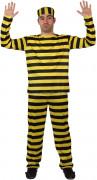 Disfraz de famoso preso para hombre