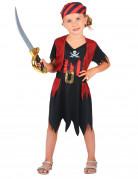 Disfraz de pirata para niña calavera