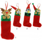 Calcetín de Navidad con peluche