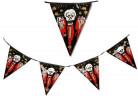 Guirnalda de banderines con calavera ensangrentada ideales para Halloween
