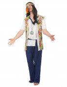 Disfraz de hippie para hombre tonos florales