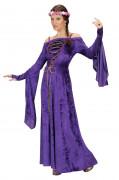 Disfraz medieval violeta para mujer