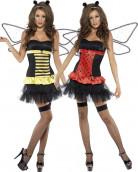 Disfraz reversible de mariquita/abeja para mujer