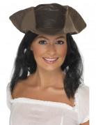 Sombrero pirata con cabello