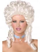 Peluca blanca barroca para mujer