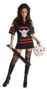 Disfraz de Jason de Viernes 13™ para mujer