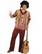 Disfraz de hippie para hombre tonos cafés