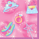 Miniservilletas estilo princesa