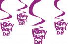 Artículos decorativos para colgar Happy Birthday